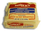 Kosher Miller's White American Cheese 16 Slices