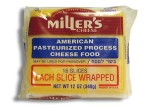 Kosher Miller's Yellow American Cheese 16 Slices