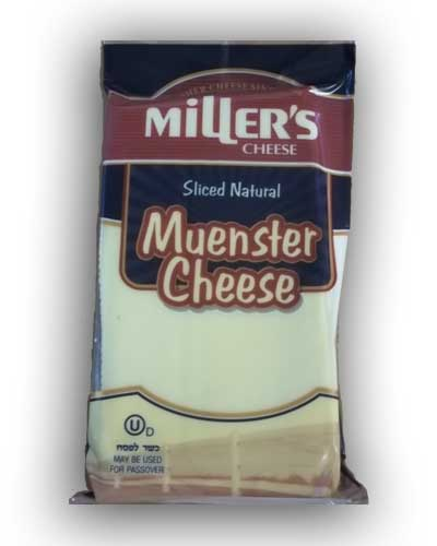 Kosher Miller's Muenster  Cheese Slices