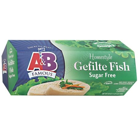 Kosher A&B Homestyle Gefilte Fish (Sugar Free)